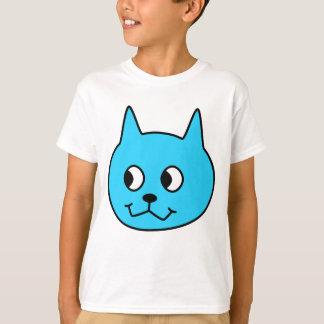 Camiseta Gato dos desenhos animados de turquesa