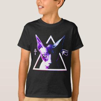 Camiseta Gato egípcio do triângulo