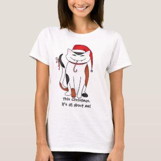 Camiseta Gato egoísta do Natal