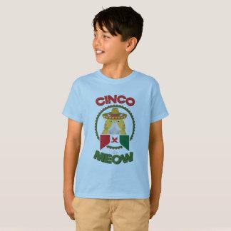 Camiseta Gato engraçado para o feriado do mexicano de Cinco