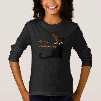 Camiseta Gato feliz da bruxa do Dia das Bruxas - t-shirt
