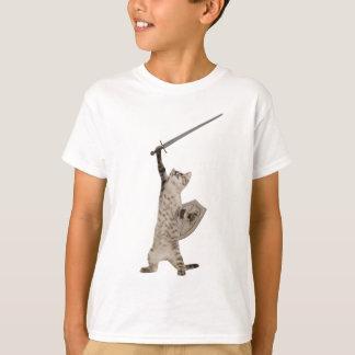 Camiseta Gato heróico do cavaleiro do guerreiro