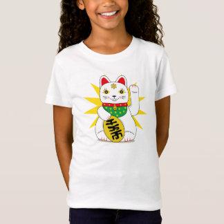 Camiseta Gato japonês bonito da boa fortuna de Maneki Neko