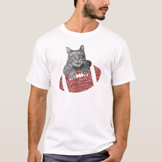 Camiseta Gato Loving do futebol americano