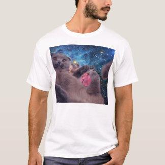 Camiseta Gato mega de Derp no espaço