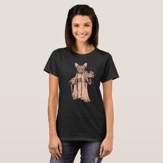 Camiseta Gato mestre de Sphynx - t-shirt escuro para