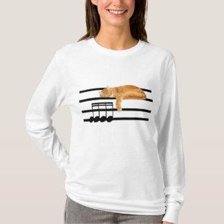 Camiseta Gato musical do gatinho do gato malhado
