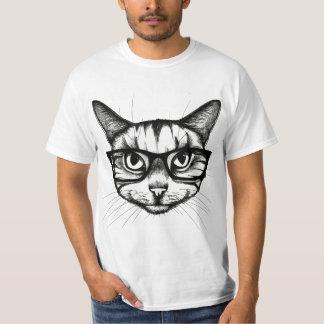 Camiseta Gato no vidro