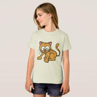 Camiseta Gato orgânico do t-shirt do roupa americano das