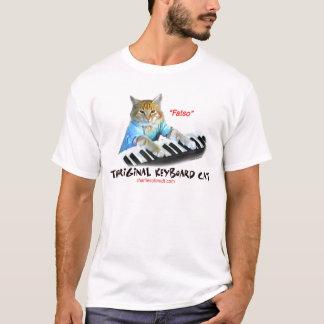 Camiseta Gato original do teclado do Fatso…