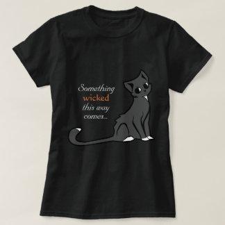 Camiseta Gato pernicioso o Dia das Bruxas - t-shirt