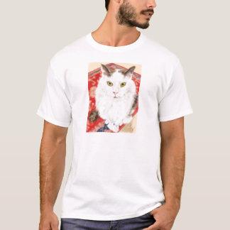 Camiseta Gato persa em um tapete persa vermelho