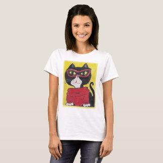 Camiseta Gato pintado hipster do Turtleneck