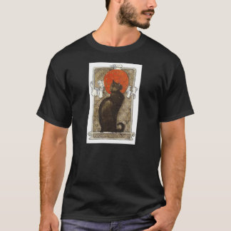 Camiseta Gato preto - arte Nouveau - Theophile Steinlen