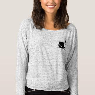 Camiseta Gato preto bonito do bolso