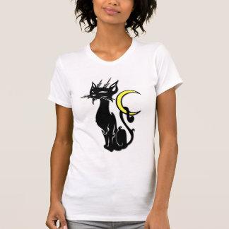 Camiseta Gato preto com lua
