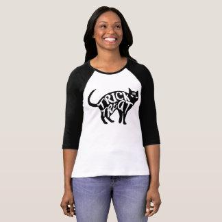 Camiseta Gato preto da doçura ou travessura do Dia das