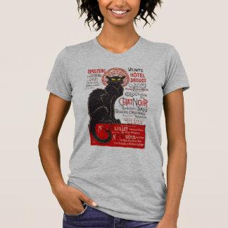 Camiseta Gato preto de Nouveau da arte francesa de Tournee