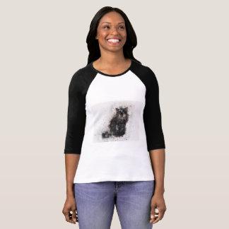 Camiseta Gato preto misterioso