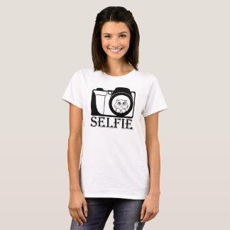 Camiseta Gato Selfie engraçado