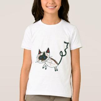 Camiseta Gato Siamese dos bonsais
