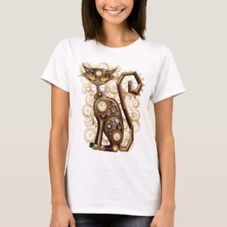Camiseta Gato surreal à moda de Steampunk