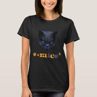 Camiseta Gato transversal contra Einstein! Dizer engraçado