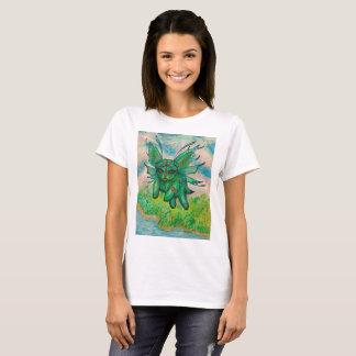 Camiseta Gato verde mágico voado