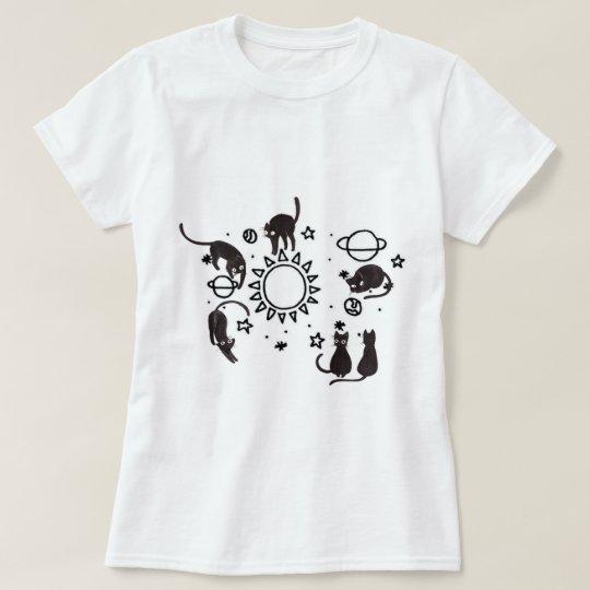 Camiseta Gatos no Universo