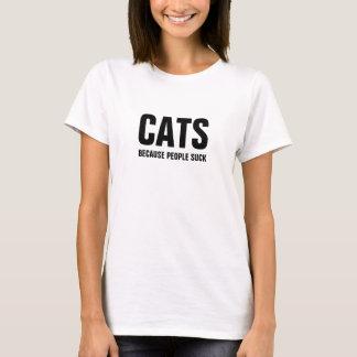 Camiseta Gatos - porque as pessoas sugam