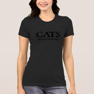 Camiseta Gatos (porque as pessoas sugam)