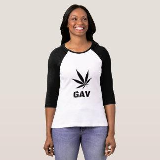 Camiseta GAV imprimiu o t-shirt Longo-Sleeved pelo