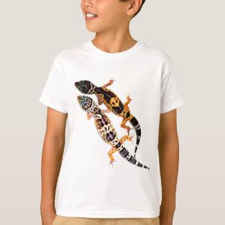 Camiseta Geco de leopardo casal