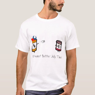 Camiseta Geléia da manteiga de amendoim com um bastão de