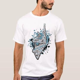 Camiseta Gelo Alt 2 do cotovelo de Breakdance