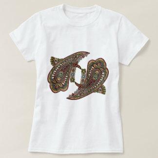 Camiseta Gemas de Paisley Boho da felicidade