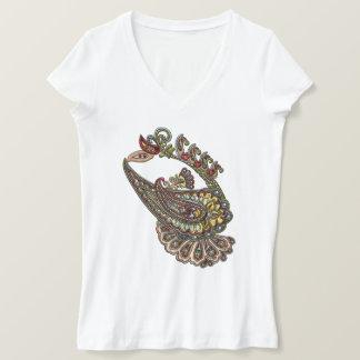 Camiseta Gemas de Paisley Boho do desejo