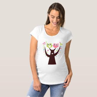 Camiseta Gêmeos engraçados da coruja no t-shirt da