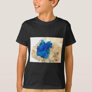 Camiseta Gemology de cristal azul do coletor do cão de