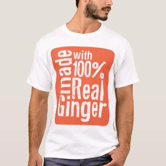 Camiseta Gengibre real de 100%