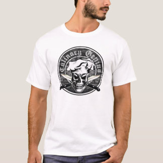 Camiseta Gênio culinário 3: Crânio do cozinheiro chefe e
