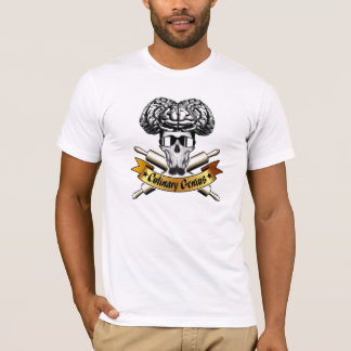 Camiseta Gênio culinário: Crânio do padeiro