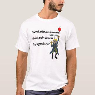 Camiseta Gênio e loucura