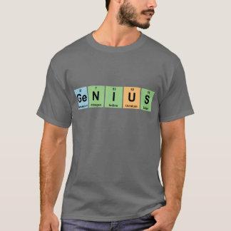 Camiseta Gênio - mesa periódica de produtos dos elementos