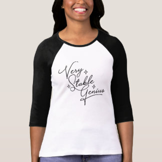 Camiseta Gênio muito estável - cursive