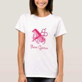 Camiseta Gênio personalizado da tesoura do Hairstylist