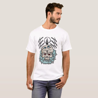 Camiseta genius bearded Skull Idea