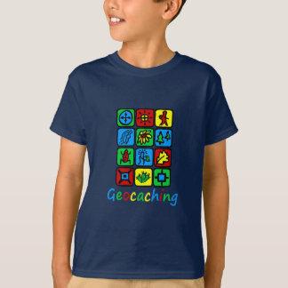 Camiseta Geocaching colorido
