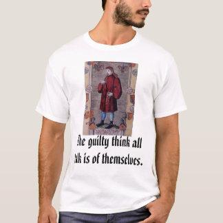 Camiseta Geoffrey Chaucer, o culpado pensa que toda a