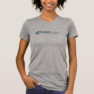 Camiseta Geographics de mármore azul